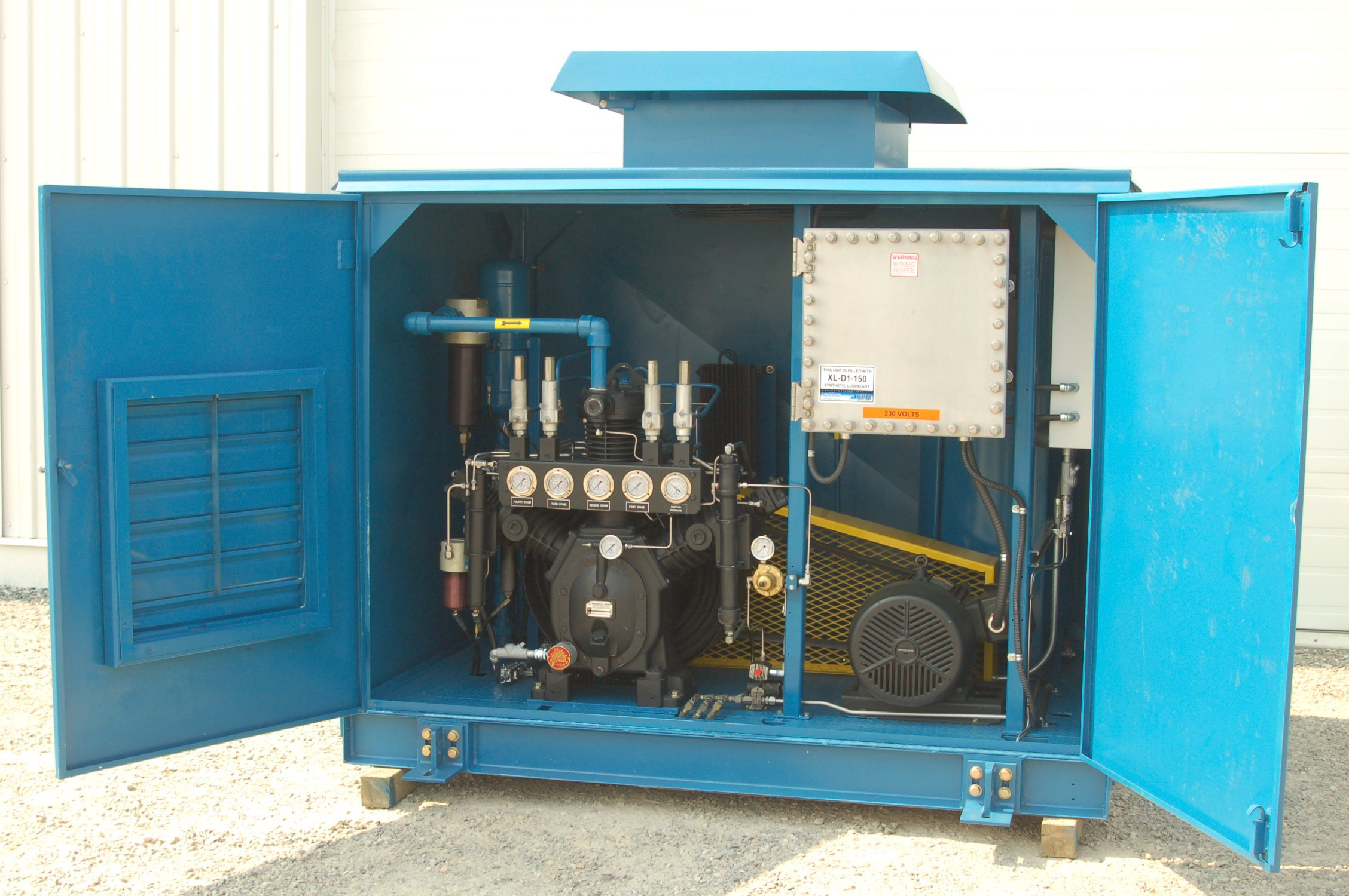 11507 Rebuilt Cng Compressor Package Used Compressors